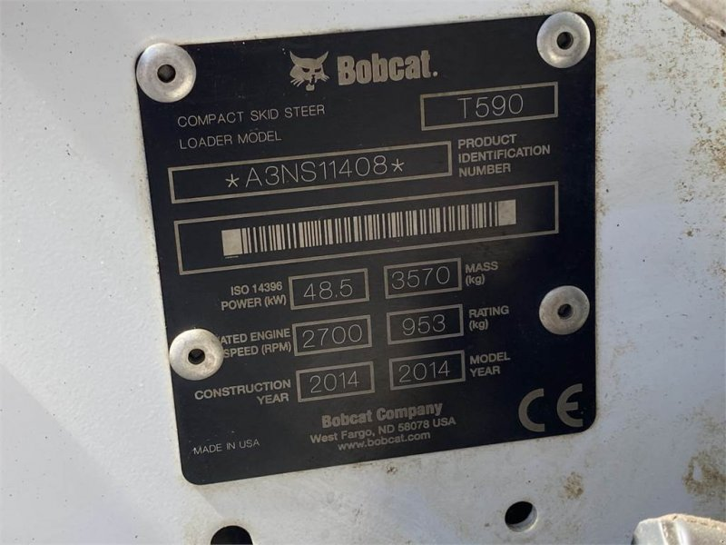 Bulldozer des Typs Bobcat T590 Deltalader, Gebrauchtmaschine in Schrobenhausen (Bild 7)