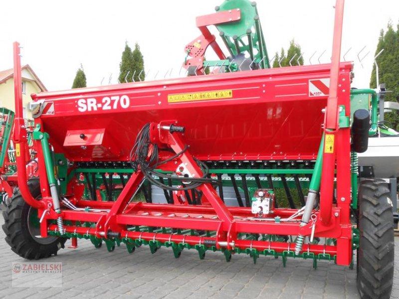 Drillmaschinenkombination typu Agro-Masz Drillmaschine/ Seed drill/ Siewnik rzędowy SR-270 / Sembradora en línea SR-270, Neumaschine w Jedwabne (Zdjęcie 1)