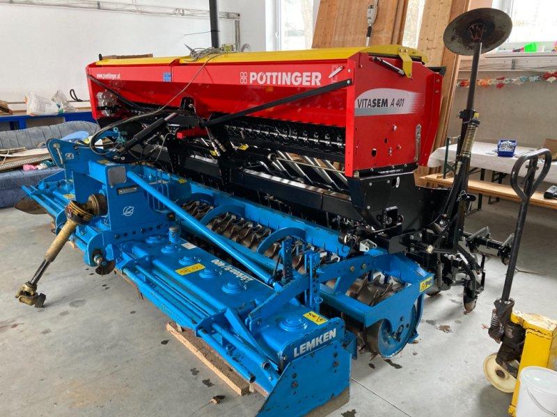 Drillmaschinenkombination des Typs Lemken + Pöttinger Zirkon 9/400 + Vitasem A 401 Scheibenschar, Gebrauchtmaschine in Leiblfing (Bild 1)