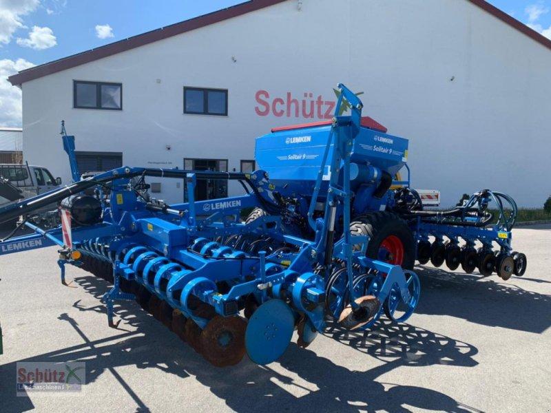 Drillmaschinenkombination des Typs Lemken Solitär 9/500 und Heliodor 8/500 gezogen, Gebrauchtmaschine in Schierling (Bild 1)