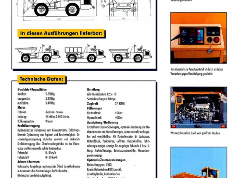 Dumper a típus Bergmann 2055 B DS, Gebrauchtmaschine ekkor: Obrigheim (Kép 9)