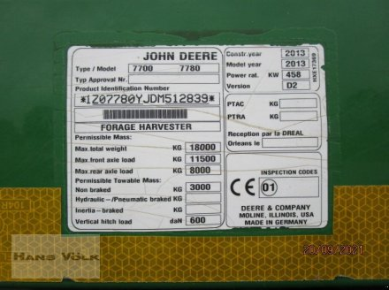 Feldhäcksler des Typs John Deere 7780i, Gebrauchtmaschine in Soyen (Bild 6)
