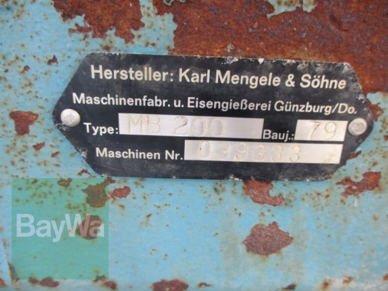 Feldhäcksler des Typs Mengele Maisblitz MB 200, Gebrauchtmaschine in Schönau b.Tuntenhaus (Bild 6)