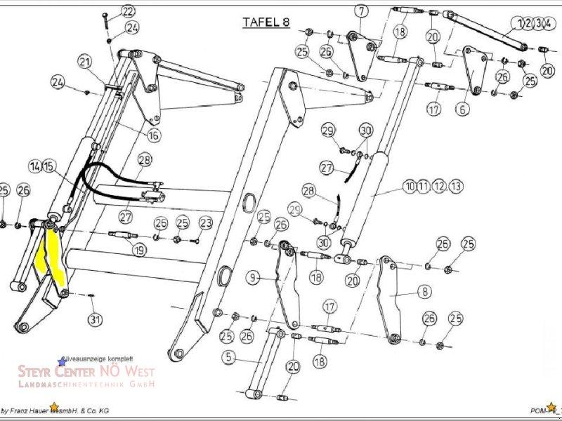 Frontlader typu Hauer POM P2 LÄNGSWIPPE, Gebrauchtmaschine v Purgstall (Obrázok 1)
