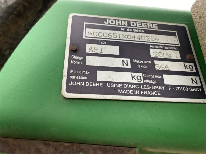 Frontlader des Typs John Deere 651, Gebrauchtmaschine in Sabro (Bild 1)