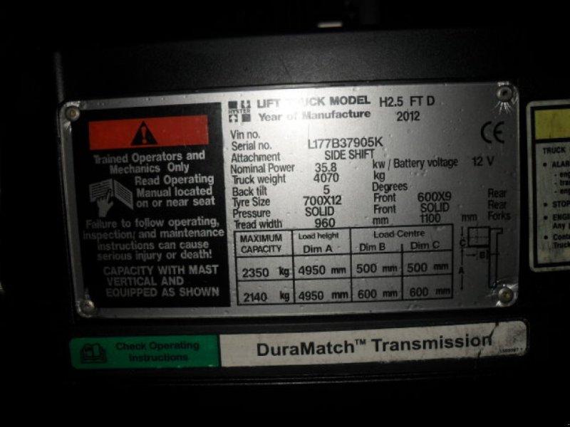 Frontstapler a típus Hyster H 2.5 FT, Gebrauchtmaschine ekkor: Obrigheim (Kép 8)