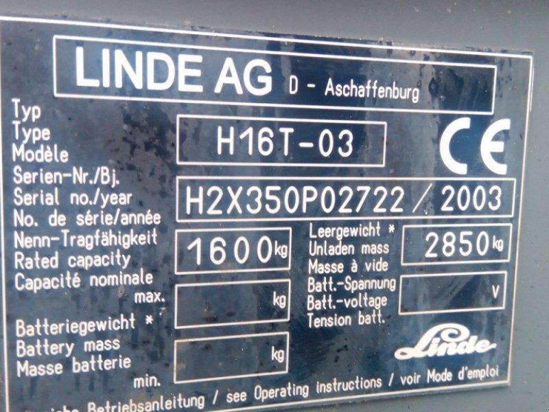 Frontstapler типа Linde H16T-03, Gebrauchtmaschine в Dronten (Фотография 7)