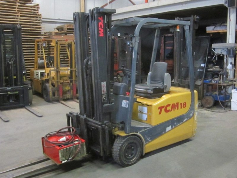 Frontstapler типа TCM heftruck FTB18-4, triplomast en side shift., Gebrauchtmaschine в Tubbergen (Фотография 1)