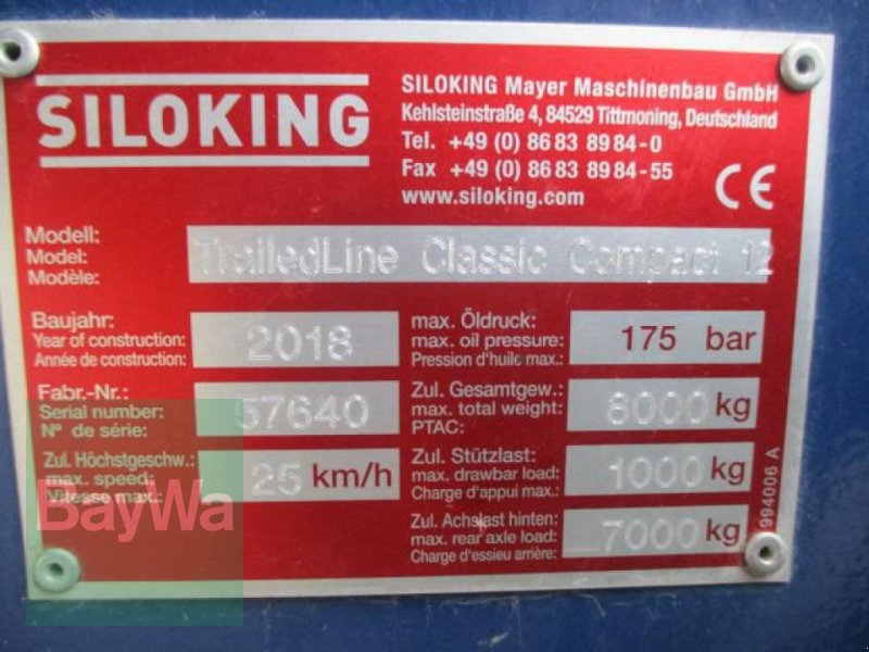 Futtermischwagen des Typs Siloking COMPACT 12 M³, Gebrauchtmaschine in Schönau b.Tuntenhausen (Bild 9)
