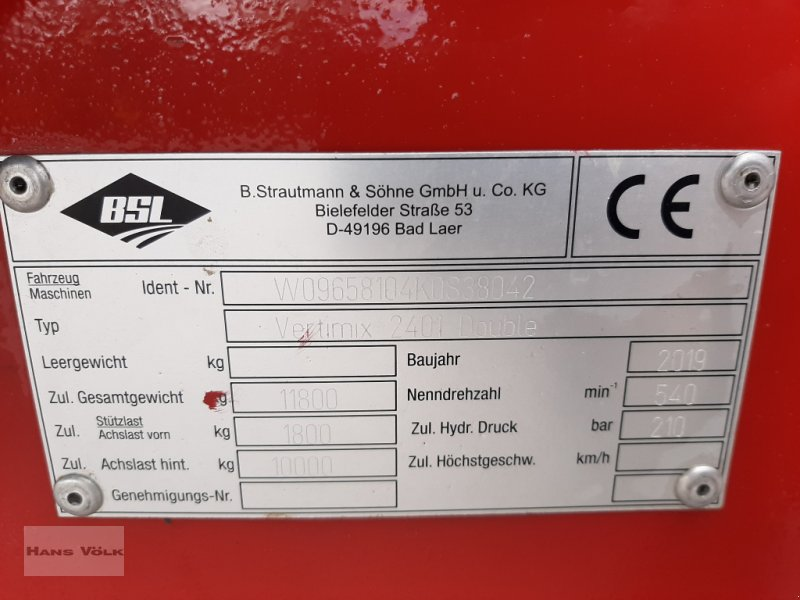 Futtermischwagen des Typs Strautmann Verti-Mix 2401 Double, Gebrauchtmaschine in Antdorf (Bild 7)