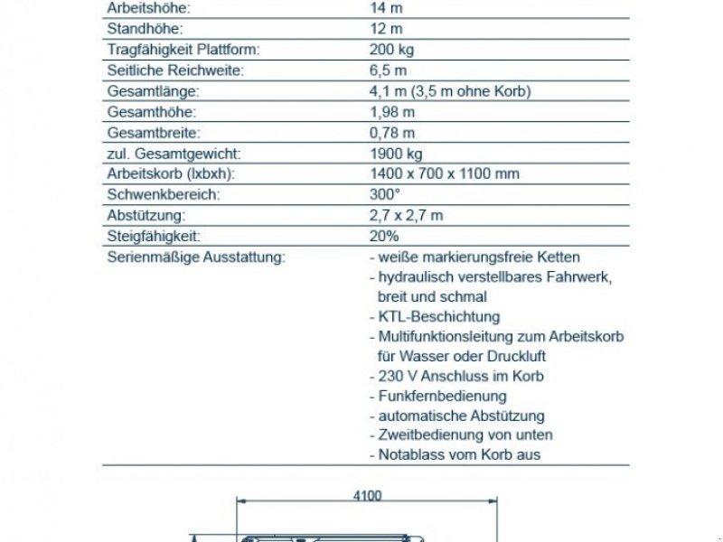 Gelenkteleskopbühne des Typs Oil & Steel Octopussy 1402 Classic, Gebrauchtmaschine in Obrigheim (Bild 17)