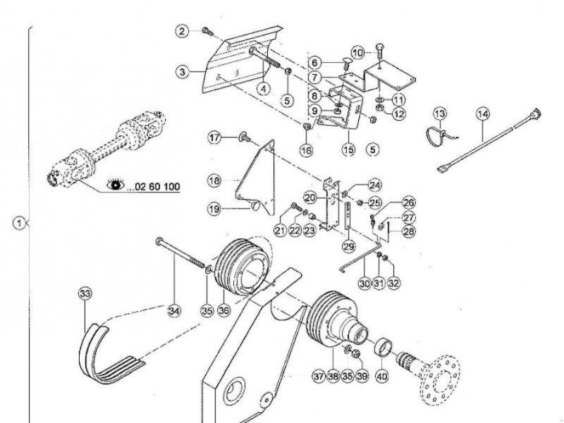 GPS Schneidwerk a típus CLAAS Riemenscheibe für Direct Disc 491-492, Gebrauchtmaschine ekkor: Schutterzell (Kép 1)