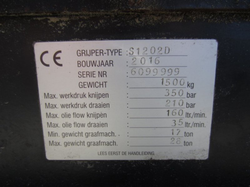 Greifer типа Sonstige Sorteergrijper Zijtveld 1202D, Gebrauchtmaschine в Arum (Фотография 4)