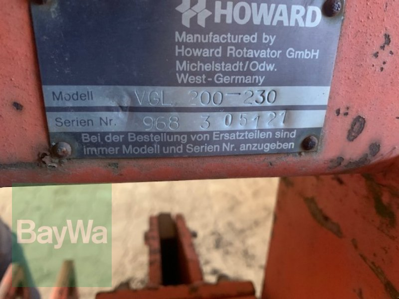 Grubber des Typs Howard VGL 200 S, Gebrauchtmaschine in Fürth (Bild 3)