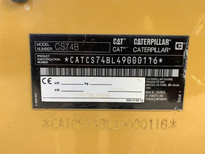 Gummiradwalze typu Caterpillar CS 74B Walzenzug 16to CE + EPA Neuwertig, Gebrauchtmaschine w Schrobenhausen (Zdjęcie 16)