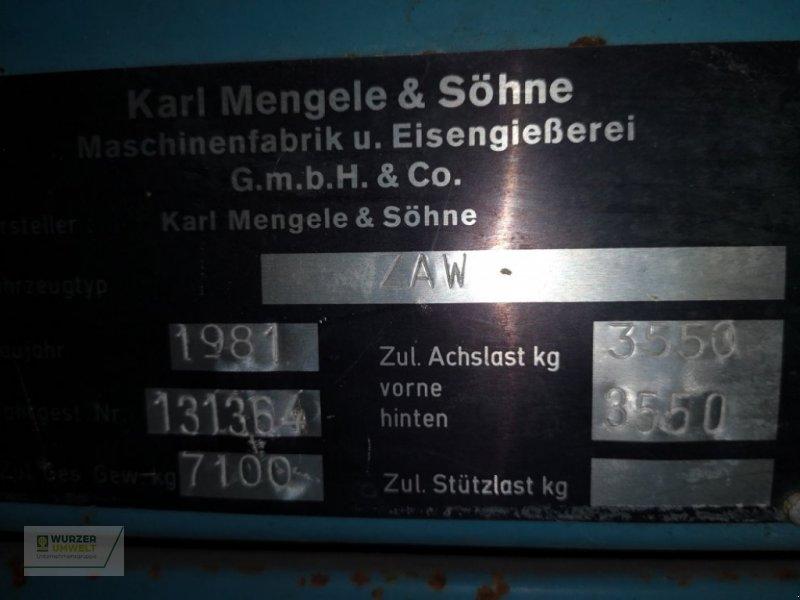 Häcksel Transportwagen des Typs Mengele ZAW 5500, Gebrauchtmaschine in Eitting (Bild 4)