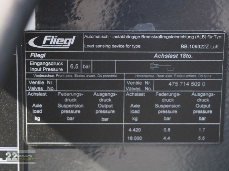 Hakenwagen des Typs Fliegl HKL 22, Neumaschine in Gampern (Bild 13)