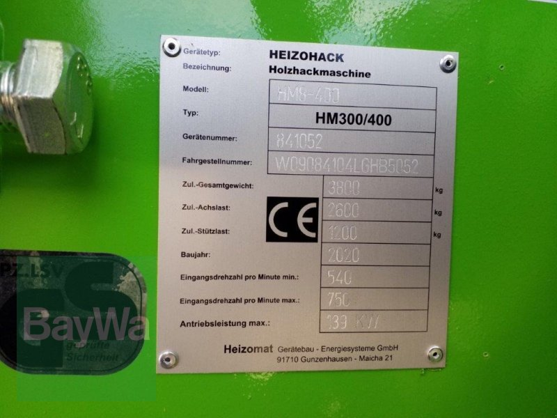 Holzhacker & Holzhäcksler του τύπου Heizomat Heizohack HM 8-400 *Miete ab 250€/Tag*, Gebrauchtmaschine σε Bamberg (Φωτογραφία 9)