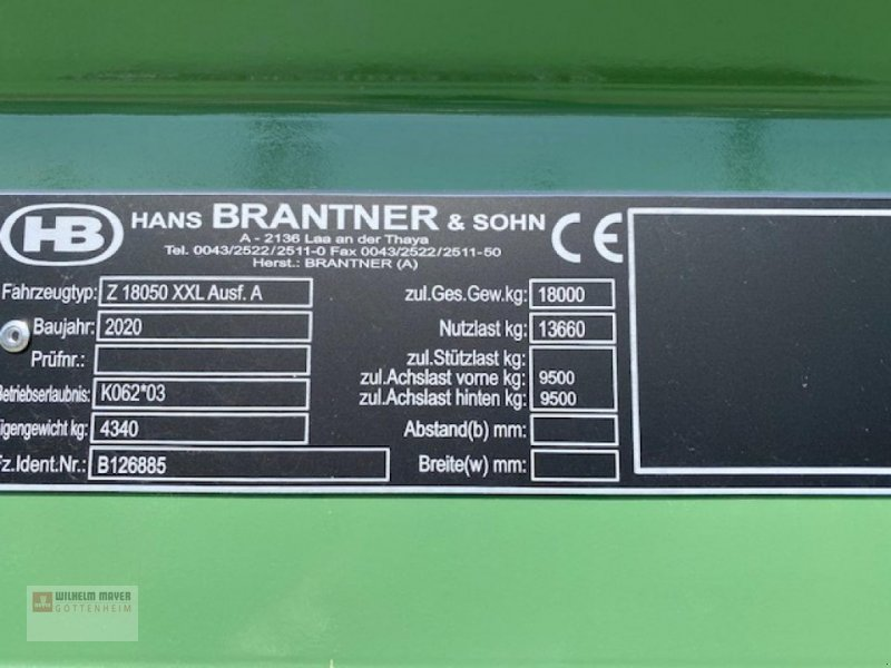 Kipper des Typs Brantner HBZ 1851 G, Neumaschine in Gottenheim (Bild 3)