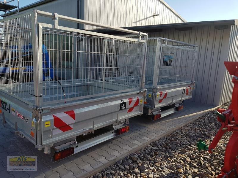 Kipper des Typs CYNKOMET SZ-1 Transportbox 3-Seiten-Kipper 1,5t mit Gitteraufsatz, Neumaschine in Teublitz (Bild 4)
