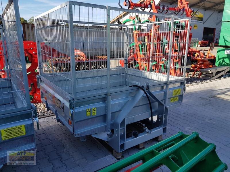 Kipper des Typs CYNKOMET SZ-1 Transportbox 3-Seiten-Kipper 1,5t mit Gitteraufsatz, Neumaschine in Teublitz (Bild 3)