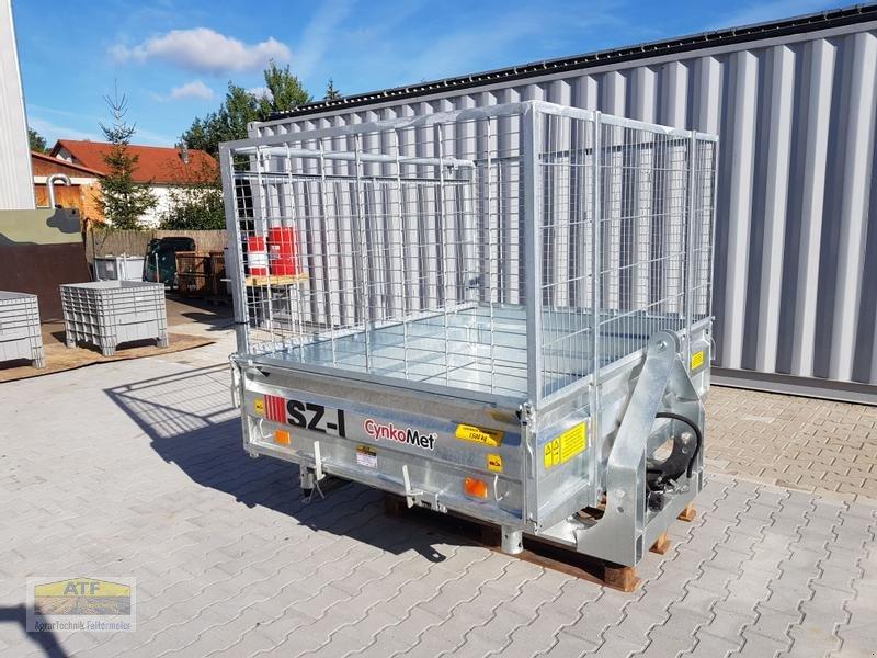 Kipper des Typs CYNKOMET SZ-1 Transportbox 3-Seiten-Kipper 1,5t mit Gitteraufsatz, Neumaschine in Teublitz (Bild 1)