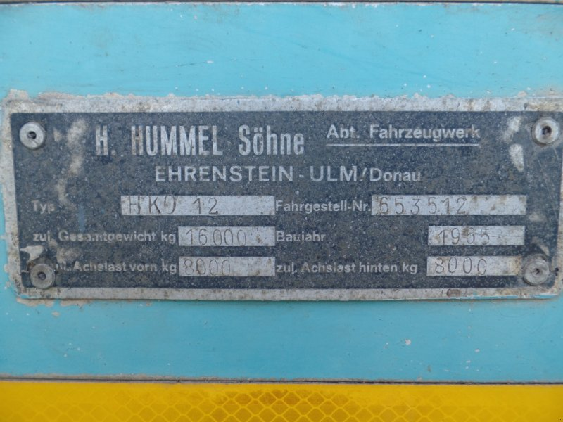 Kipper des Typs Hummel HK 0 12, Gebrauchtmaschine in Berching (Bild 5)