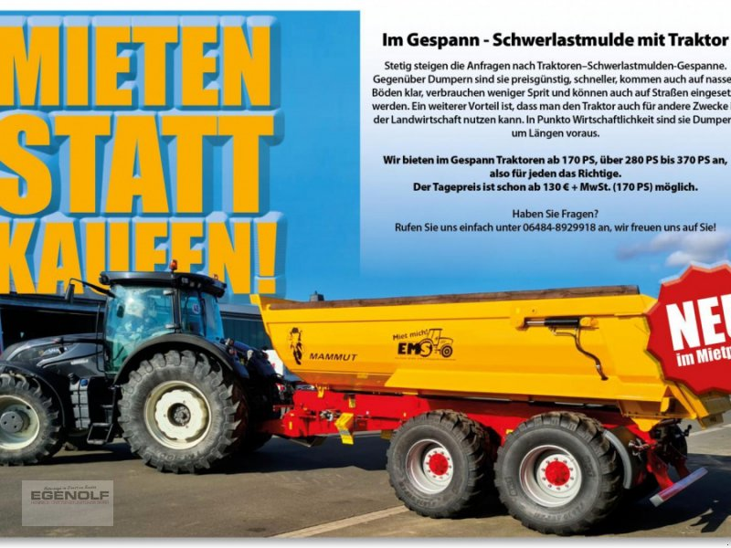 Kipper des Typs Mammut S 354 Miete im Gespann ab 149,90 € / Tag, Gebrauchtmaschine in Beselich-Obertiefenbach (Bild 1)