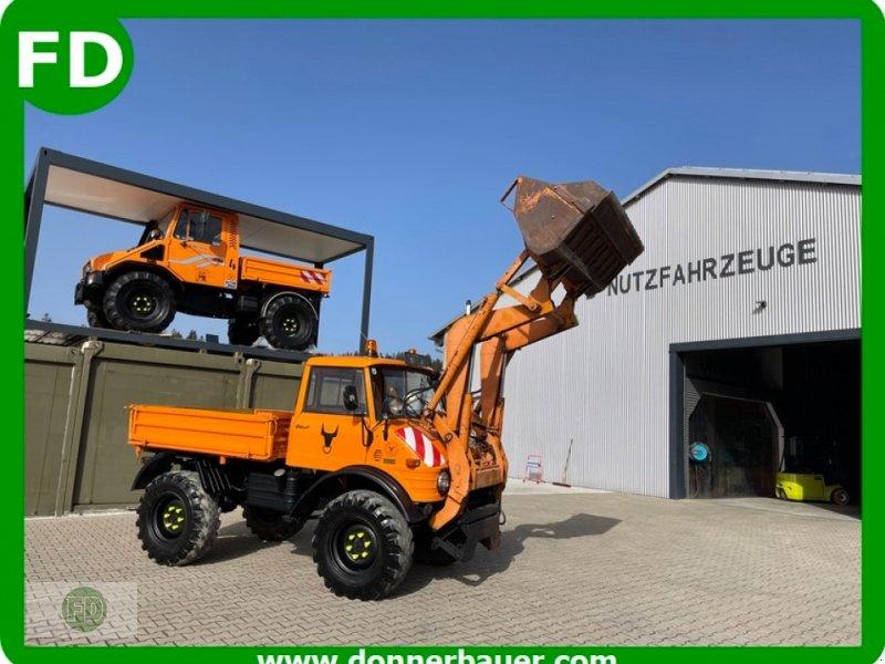 Kommunaltraktor типа Mercedes-Benz Unimog 406 mit Frontlader, viele Extras, Lieferung mgl., Gebrauchtmaschine в Hinterschmiding (Фотография 1)