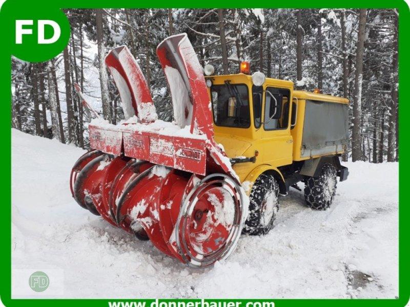 Kommunaltraktor типа Unimog Unimog 406 mit Schneefräse, sofort Einsatzbereit, Gebrauchtmaschine в Hinterschmiding (Фотография 1)