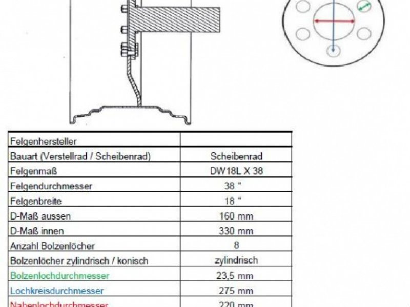 Komplettradsatz des Typs Trelleborg TM 700, Gebrauchtmaschine in Itterbeck (Bild 6)