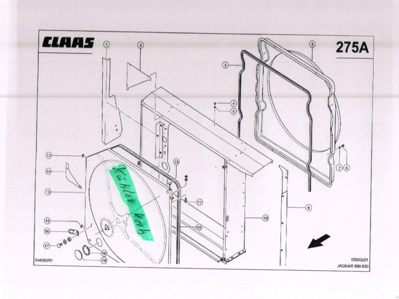 Kompressor & Kühlanlage typu CLAAS Kühlerkorb NEU für Jaguar 820-900 492, 493, Neumaschine w Schutterzell (Zdjęcie 1)