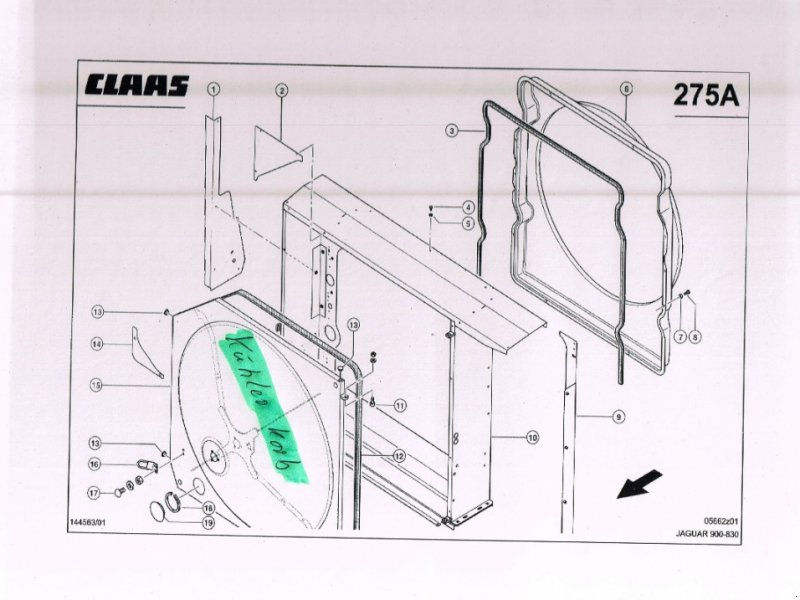 Kompressor & Kühlanlage des Typs CLAAS Kühlerkorb NEU für Jaguar 820-900 492, 493, Neumaschine in Schutterzell (Bild 1)