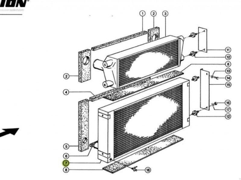 Kompressor & Kühlanlage типа CLAAS Wasserkühler für Lexion 410 bis 560, Gebrauchtmaschine в Schutterzell (Фотография 2)