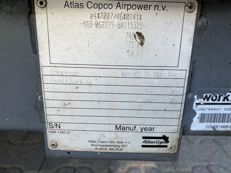 Kompressor typu Atlas Copco XS47DD, Gebrauchtmaschine v WIJCHEN (Obrázok 4)