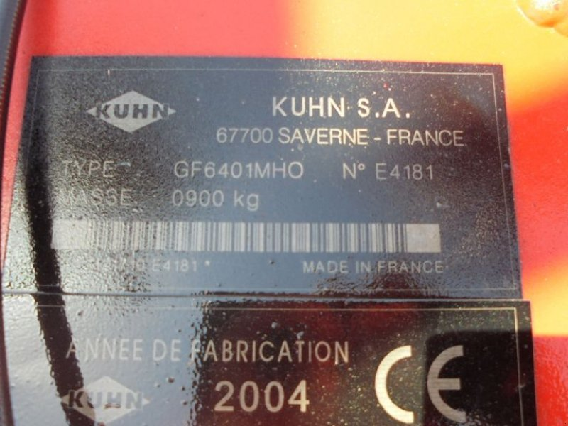 Kreiselheuer del tipo Kuhn GF 6401 MHO, Gebrauchtmaschine en Logroño la Rioja (Imagen 2)
