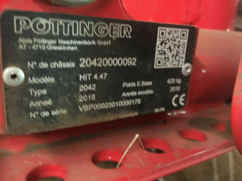 Kreiselheuer a típus Pöttinger Faneur HIT 4.47 Pöttinger, Gebrauchtmaschine ekkor: roynac (Kép 1)