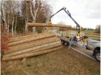 Anhänger Eduard Forstner F3 Príves pre krátke drevo