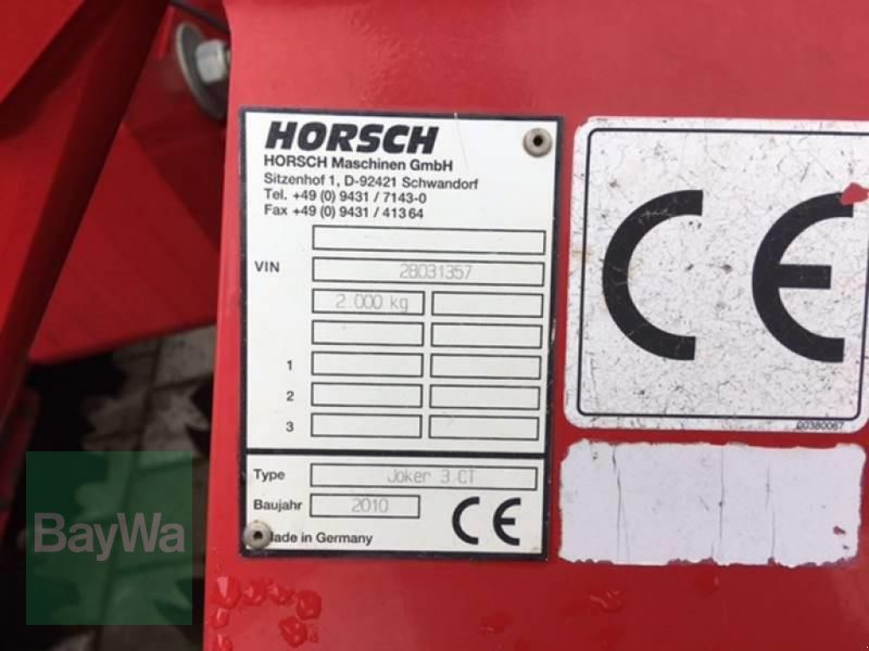 Kurzscheibenegge des Typs Horsch JOKER 3 CT, Gebrauchtmaschine in Vilsbiburg (Bild 2)
