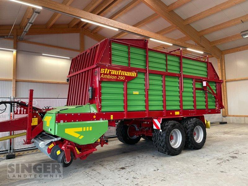 """Ladewagen des Typs Strautmann Vitesse / Ambion 290 - 5 Schwingen, DL+ALB, Lenkachse, 22,5"""" Räder, Neumaschine in Ebenhofen (Bild 1)"""