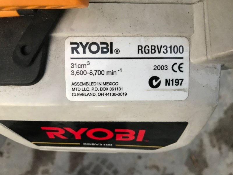 Laubsauggerät & Blasgerät des Typs Ryobi RGBV3100 Bläser, Gebrauchtmaschine in Chur (Bild 3)