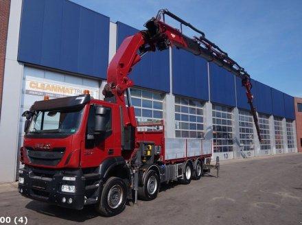 Iveco Stralis 480 8x2 Effer 85 ton/meter laadkraan + JIB Грузовой автомобиль