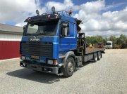 Scania 113  med  17-ton  meter  HMF  kran Φορτηγό