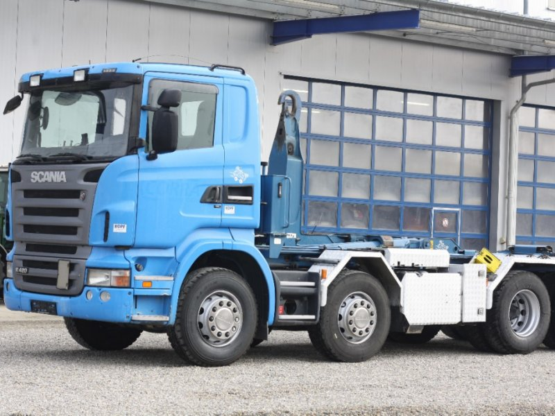 LKW des Typs Scania R 420L  8x4 UT Abrollkippe Saurier TR 70 EURO 5, Gebrauchtmaschine in Schutterzell (Bild 1)