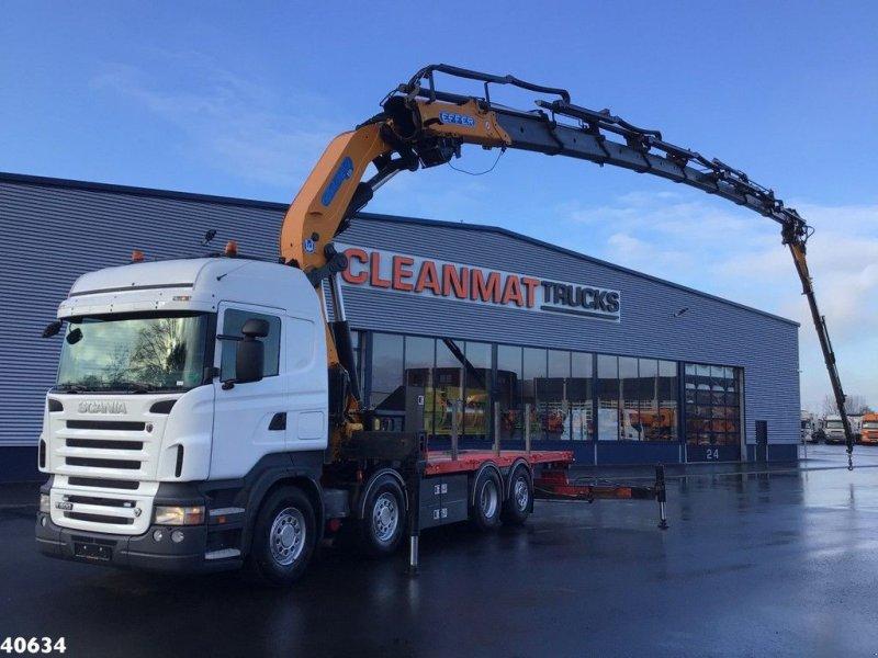 LKW типа Scania R 500 Effer 85 ton/meter laadkraan + Jib, Gebrauchtmaschine в ANDELST (Фотография 1)