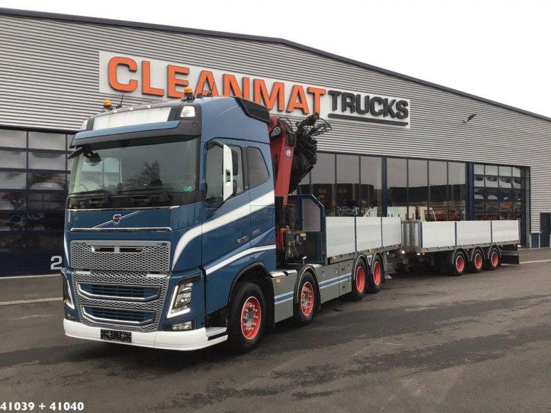 LKW tip Volvo FH 16.650 8x4 HMF 85 ton/meter laadkraan + Fynkar 3-assige aanha, Gebrauchtmaschine in ANDELST (Poză 1)