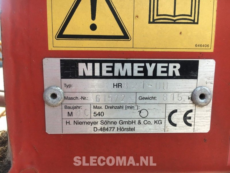 Mähaufbereiter & Zetter типа Niemeyer HR821, Gebrauchtmaschine в BOEKEL (Фотография 4)