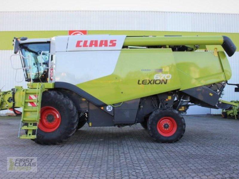 Mähdrescher des Typs CLAAS LEXION 670 MONTANA, Gebrauchtmaschine in Hockenheim (Bild 1)