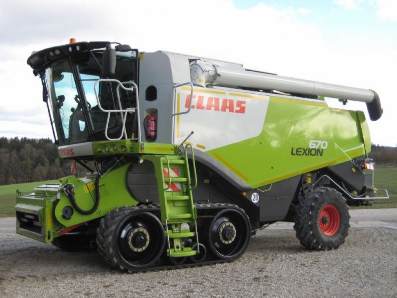 Mähdrescher des Typs CLAAS Lexion 670 TT, Gebrauchtmaschine in Hemau (Bild 1)