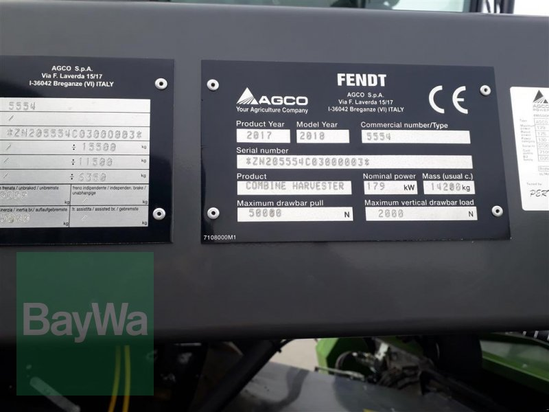 Mähdrescher du type Fendt 5255L PL, Gebrauchtmaschine en Hof (Photo 26)